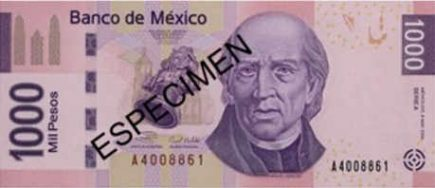Billete de mil pesos