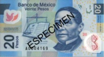 Billete mexicano de 20