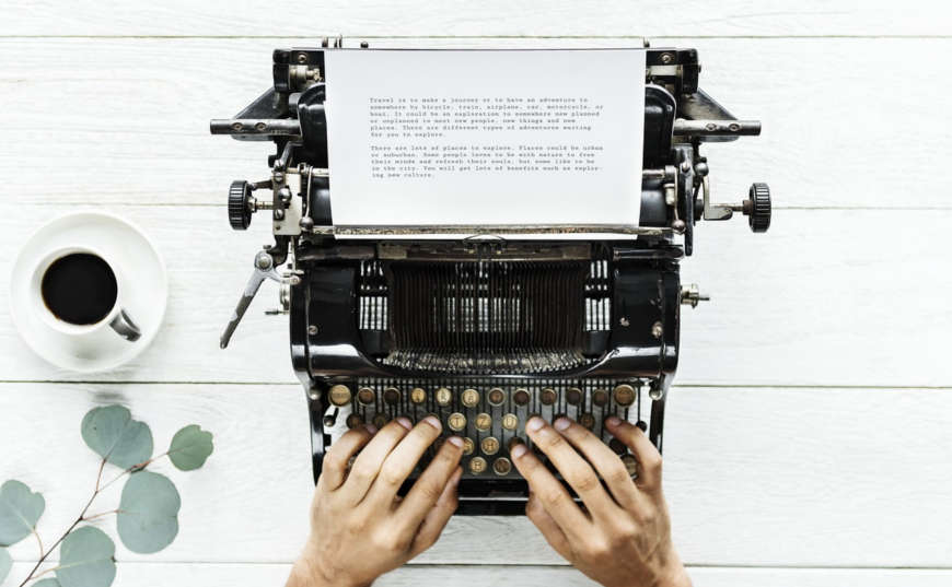 Máquina escribir storytelling