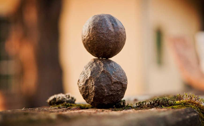 Rocas en equilibrio Feng Shui
