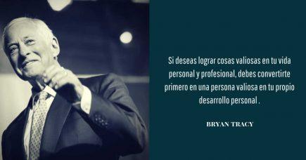 frase de desarrollo personal Bryan Tracy