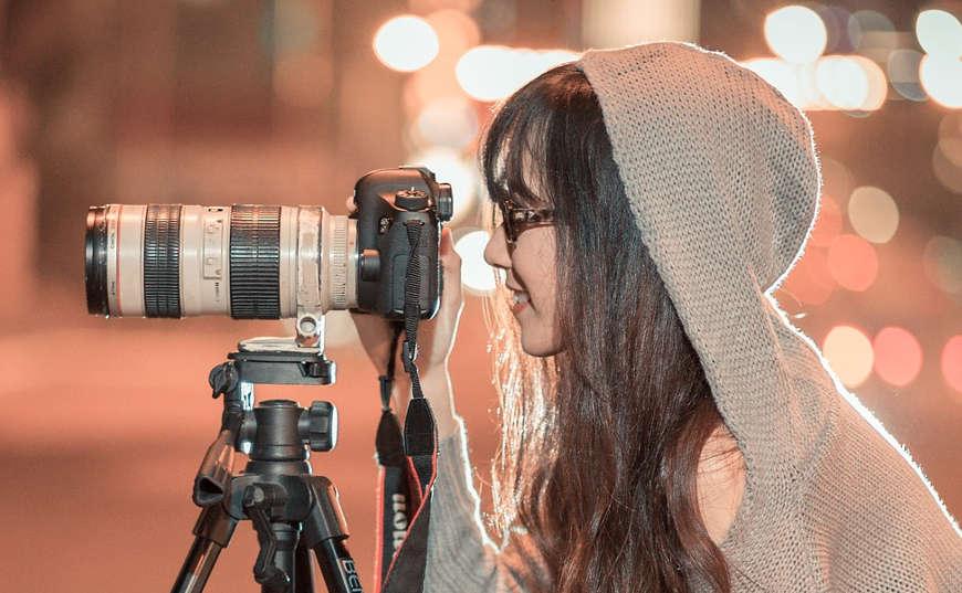 Mujer fotógrafa