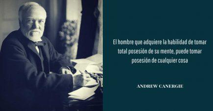 frase de desarrollo personal  Andrew Canergie