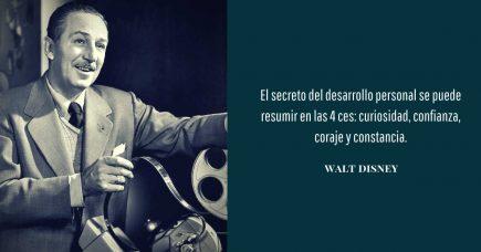 frase de desarrollo personal  Walt Disney