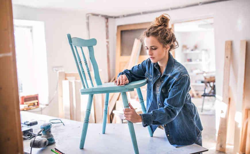 negocio pequeño de sillas vintage